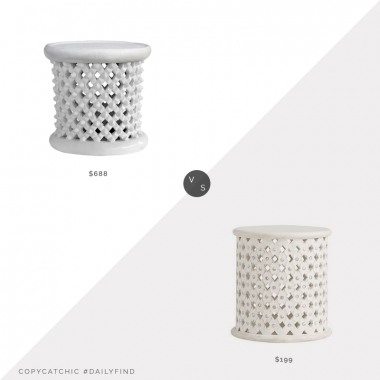 Daily Find: Houzz Bungalow 5 Kano Side Table vs. Pottery Barn Kids Stella Side Table, bamileke side table look for less, copycatchic luxe living for less, budget home decor and design, daily finds, home trends, sales, budget travel and room redos