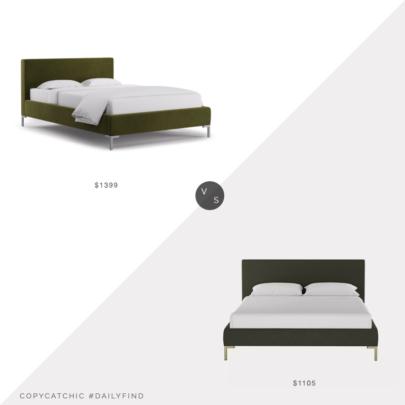 Daily Find: The Inside Moss Velvet Platform Bed vs. Target Daisy Platform Bed, green velvet bed look for less, copycatchic luxe living for less, budget home decor and design, daily finds, home trends, sales, budget travel and room redos