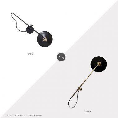 Daily Find: Horne Workstead Wall Lamp vs. Etsy Photonic Studio Articulating Industrial Brass Scissor Lamp, black wall lamp look for less, copycatchic luxe living for less, budget home decor and design, daily finds, home trends, sales, budget travel and room redos