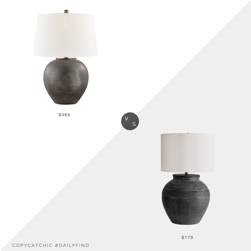 Daily Find: Layla Grayce Freeman Table Lamp vs. Pottery Barn Faris Ceramic Table Lamp, ceramic table lamp look for less, copycatchic luxe living for less, budget home decor and design, daily finds, home trends, sales, budget travel and room redos