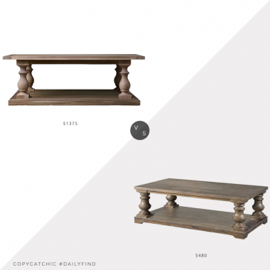 Daily Find: Restoration Hardware 17th C. Monastery Coffee Table vs. Wayfair Gracie Oaks Schweitzer Motion Coffee Table, RH coffee table look for less, copycatchic luxe living for less, budget home decor and design, daily finds, home trends, sales, budget travel and room redos