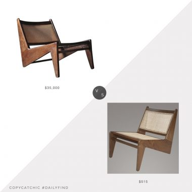 Daily Find: 1st Dibs Kangaroo Chair by Pierre Jeanneret vs. Etsy Pierre Jeanneret Replica Kangaroo Chair, kangaroo chair look for less, copycatchic luxe living for less, budget home decor and design, daily finds, home trends, sales, budget travel and room redos