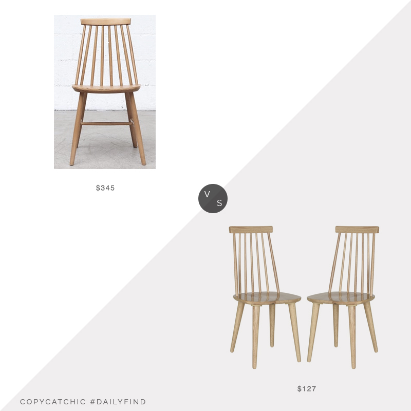 Daily Find: 1st Dibs Tapiovara Style Spindle Dining Chair vs. Bed Bath and Beyond Burris Side Chair, spindle dining chair look for less, copycatchic luxe living for less, budget home decor and design, daily finds, home trends, sales, budget travel and room redos