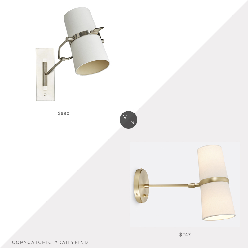 Daily Find: Candelabra Arteriors Juniper Sconce vs. Rejuvenation Conifer Medium Wall Sconce, arteriors sconce look for less, copycatchic luxe living for less, budget home decor and design, daily finds, home trends, sales, budget travel and room redos