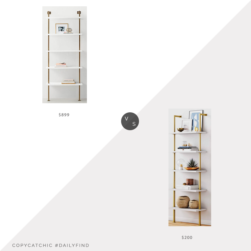 Daily Find: Restoration Hardware Teen Avalon Single Shelving vs. Amazon Nathan James Theo 5-Shelf Ladder Bookcase, RH bookcase look for less, copycatchic luxe living for less, budget home decor and design, daily finds, home trends, sales, budget travel and room redos