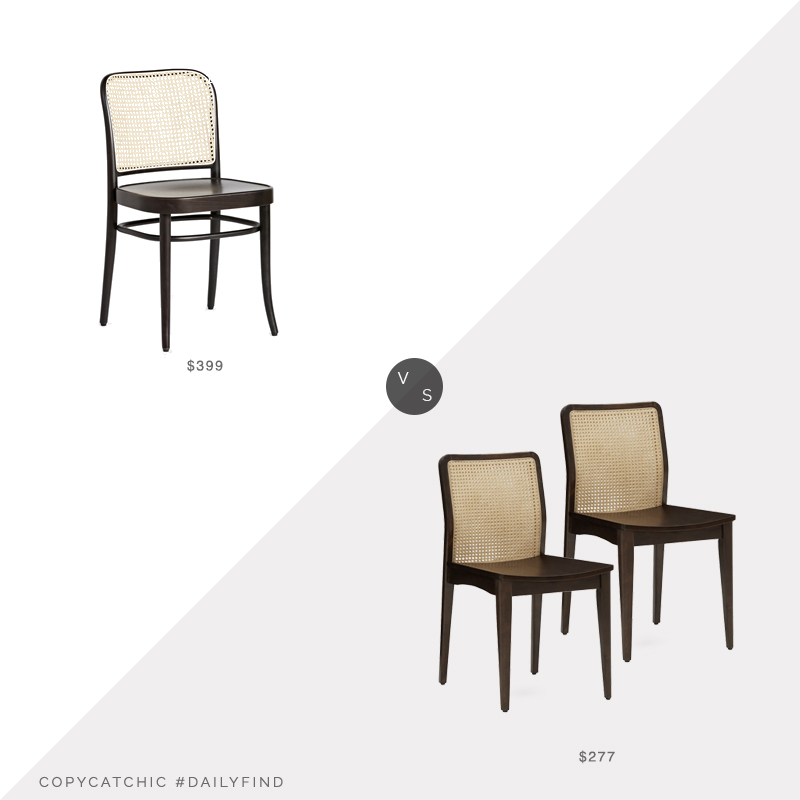 Daily Find: Rejuvenation Ton 811 Caned Side Chair vs. Joybird Doris Dining Chair Set of Two, cane back dining chair look for less, copycatchic luxe living for less, budget home decor and design, daily finds, home trends, sales, budget travel and room redos