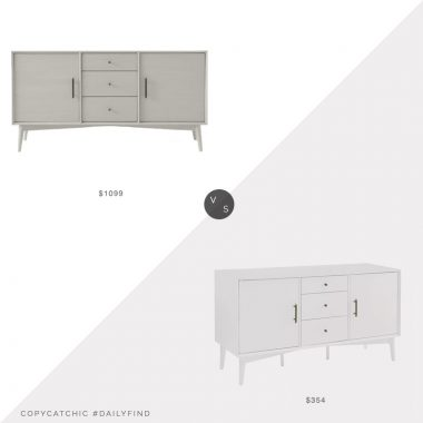 Daily Find: West Elm Mid-Century Buffet Table vs. Bed Bath and Beyond Crosley Landon Buffet, mid century buffet look for less, copycatchic luxe living for less, budget home decor and design, daily finds, home trends, sales, budget travel and room redos