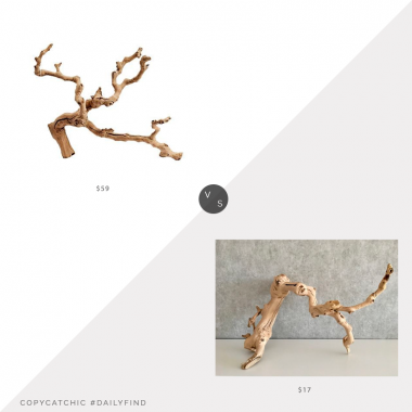 Daily Find: Pottery Barn Dried Grapewood Branch vs. Desert Vine Co. Sandblasted Grapevine Branch, grapevine branch look for less, copycatchic luxe living for less, budget home decor and design, daily finds, home trends, sales, budget travel and room redos
