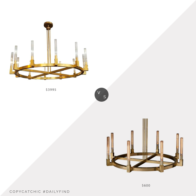 Daily Find: Restoration Hardware Cannele Round Chandeliervs. Modani Mulia Chandelier, RH chandelier look for less, copycatchic luxe living for less, budget home decor and design, daily finds, home trends, sales, budget travel and room redos