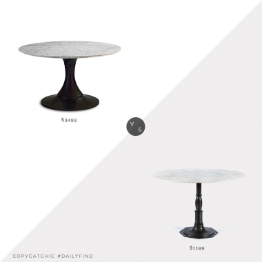 Daily Find: Frontgate Mercer Round Dining Table vs. Pottery Barn Christie Round Marble Dining Table, marble dining table look for less, copycatchic luxe living for less, budget home decor and design, daily finds, home trends, sales, budget travel and room redos