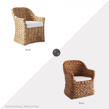 Daily Find: Serena & Lily Islesboro Chair vs. Wisteria Havana Chair, woven armchair look for less, copycatchic luxe living for less, budget home decor and design, daily finds, home trends, sales, budget travel and room redos