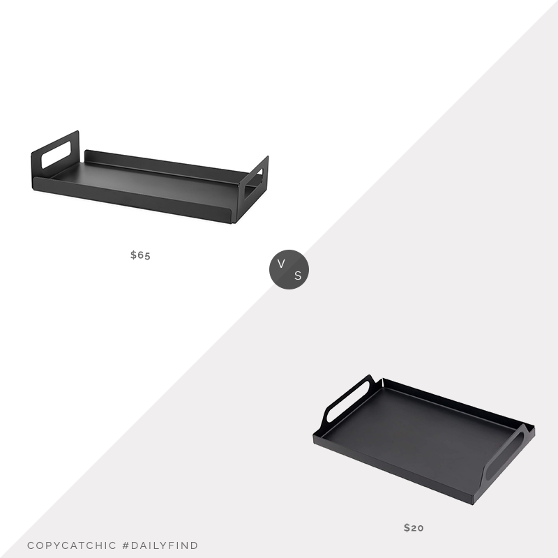 Daily Find: Room & Board Bend Tray with Handles vs. Amazon JPCRAFT Metal Tray with Handles, metal tray look for less, copycatchic luxe living for less, budget home decor and design, daily finds, home trends, sales, budget travel and room redos