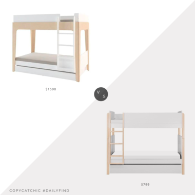 Daily Find: Kathy Kuo Home Perch Modern Classic Oeuf Bunk Bed vs. Modern Nursery Babyletto TipToe Bunk Bed, modern bunk bed look for less, copycatchic luxe living for less, budget home decor and design, daily finds, home trends, sales, budget travel and room redos