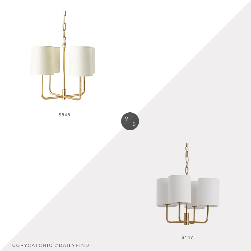Daily Find: Serena & Lily Fairmont Chandelier vs. Wayfair Carmack Chandelier, brass chandelier look for less, copycatchic luxe living for less, budget home decor and design, daily finds, home trends, sales, budget travel and room redos
