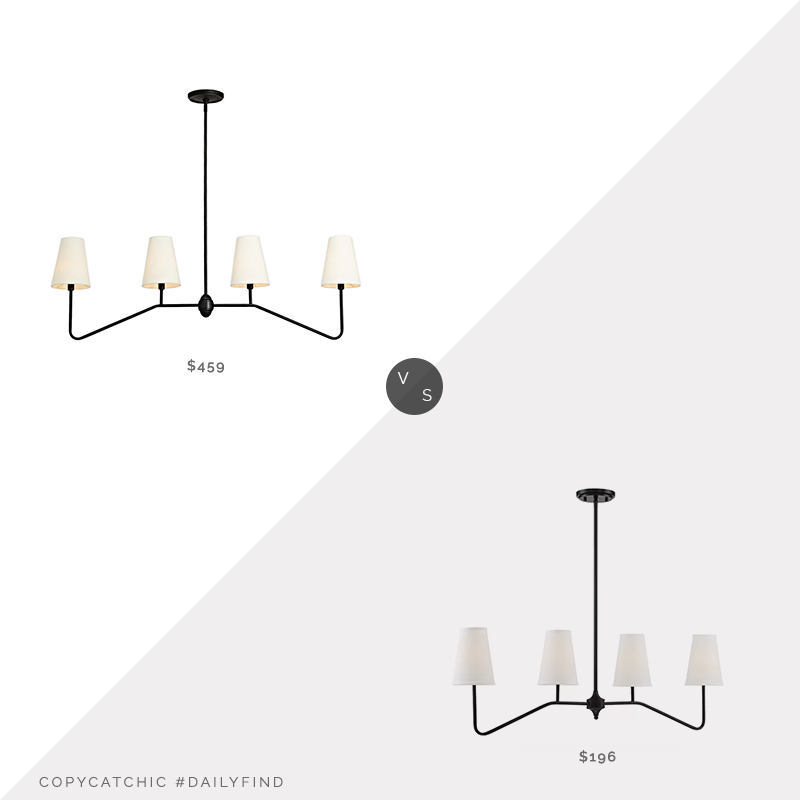 Daily Find: Rejuvenation Berkshire Linear Pendant vs. Wayfair Alleyne Linear Pendant, rejuvenation light fixture look for less, copycatchic luxe living for less, budget home decor and design, daily finds, home trends, sales, budget travel and room redos