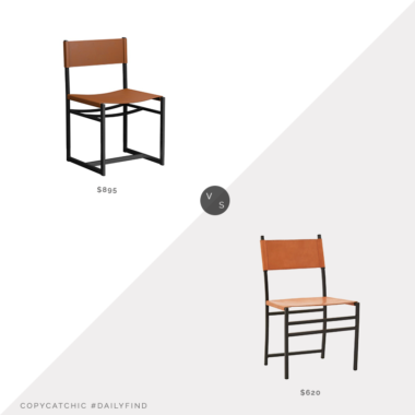 Daily Find: Williams Sonoma Home Navarro Metal Chair vs. Jayson Home Judd Chair, leather and metal chair look for less, copycatchic luxe living for less, budget home decor and design, daily finds, home trends, sales, budget travel and room redos