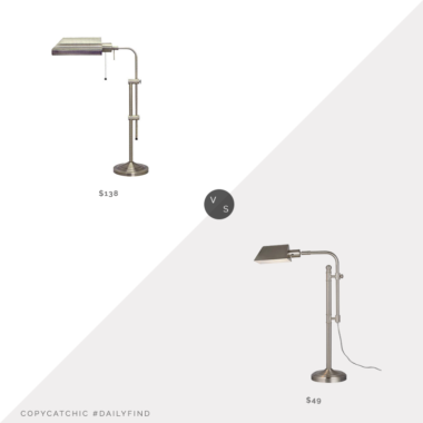 Daily Find: Bellacor Cal Lighting Pharmacy Lamp vs. Amazon Ravenna Home Pharmacy Lamp, silver pharmacy lamp look for less, copycatchic luxe living for less, budget home decor and design, daily finds, home trends, sales, budget travel and room redos