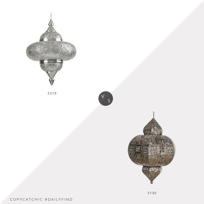 Daily Find: Ballard Designs Moroccan Pendant vs. Wayfair Bungalow Rose Kinsler Lantern, moroccan pendant light look for less. copycatchic luxe living for less, budget home decor and design, daily finds, home trends, sales, budget travel and room redos