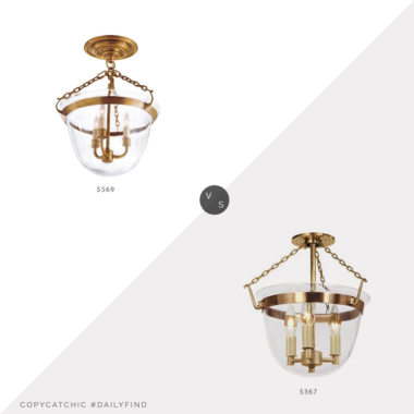 Daily Find: Circa Lighting Country Bell Jar Lantern vs. Wayfair Alcott Hill Jaliyah Urn Pendant, circa lighting look for less, copycatchic luxe living for less, budget home decor and design, daily finds, home trends, sales, budget travel and room redos