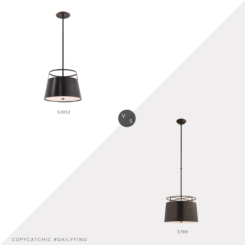 Daily Find: Urban Electric Co. Carlyn Single Pendant vs. Circa Lighting Bryden Medium Round Pendant, urban electric pendant look for less, copycatchic luxe living for less, budget home decor and design, daily finds, home trends, sales, budget travel and room redos