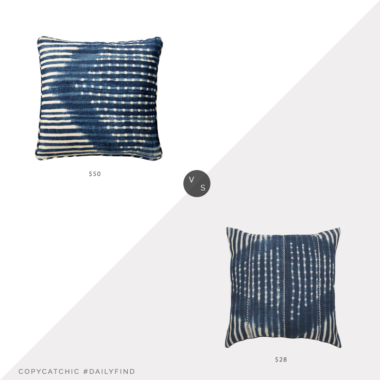 Daily Find: Pottery Barn Shibori Diamond Pillow vs. Wayfair Mistana Zara Throw Pillow, shibori pillow look for less, copycatchic luxe living for less, budget home decor and design, daily finds, home trends, sales, budget travel and room redos