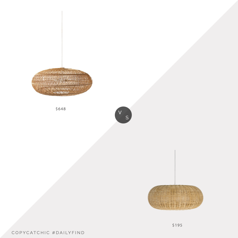 Daily Find: Serena and Lily Headlands Pendant vs. Hayneedle Kouboo Pendant Light, copycatchic luxe living for less, budget home decor and design, daily finds, home trends, sales, budget travel and room redos