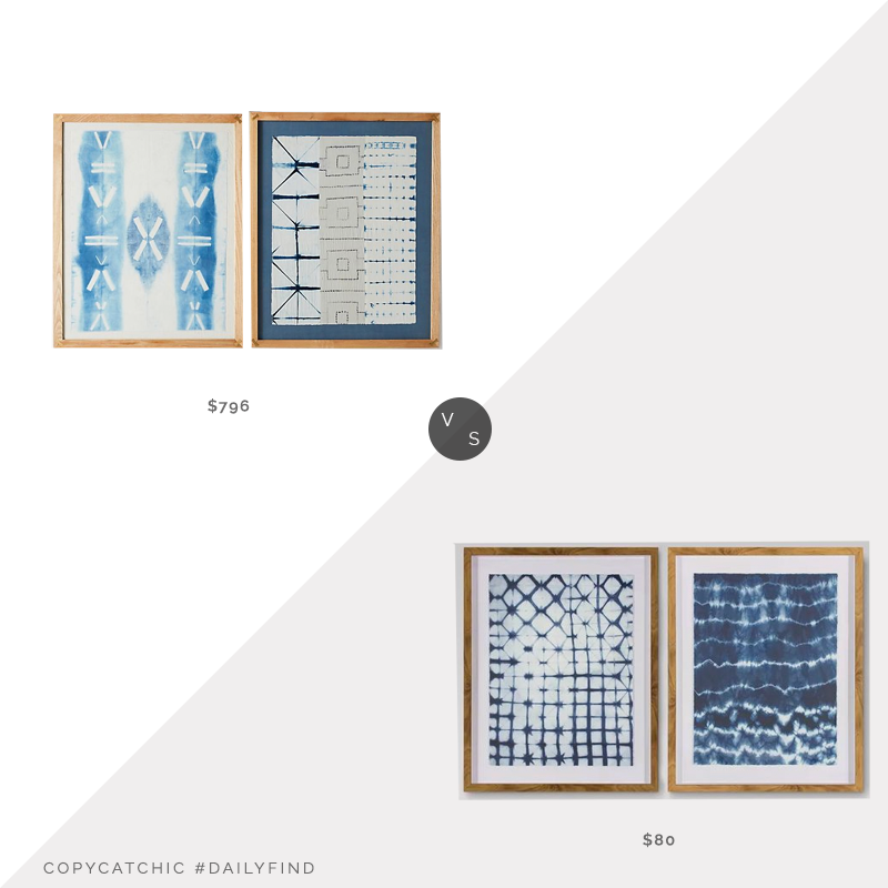 Daily Find: Anthropologie Shibori Wall Art vs. Target 2pk Shibori Wall Art, shibori art look for less, copycatchic luxe living for less, budget home decor and design, daily finds, home trends, sales, budget travel and room redos