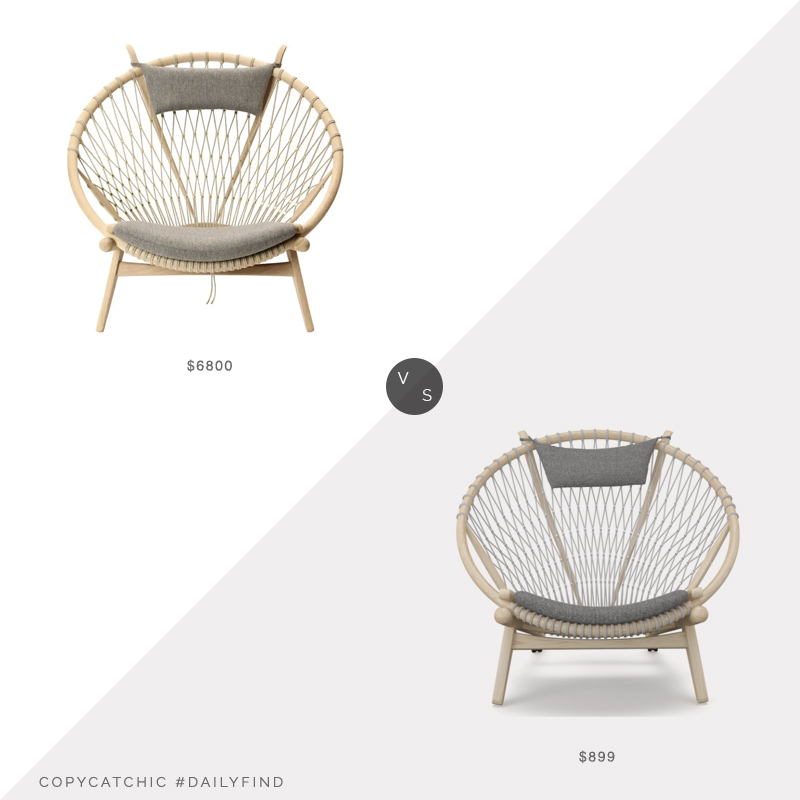 Daily Find: 1st Dibs Hans Wegner Circle Chair vs. Inmod Hans Wegner Hoop Chair, wegner chair look for less, copycatchic luxe living for less, budget home decor and design, daily finds, home trends, sales, budget travel and room redos