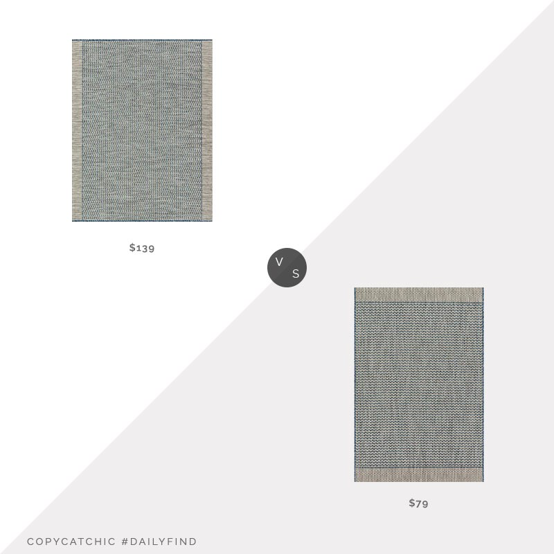 Daily Find: Lulu and Georgia Sonya Indoor/Outdoor Rug vs. Overstock Alexander Indoor/Outdoor Rug, blue indoor/outdoor rug look for less, copycatchic luxe living for less, budget home decor and design, daily finds, home trends, sales, budget travel and room redos