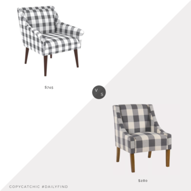 Daily Find: One Kings Lane Carson Accent Chair vs. Kirkland's Buffalo Check Swoop Chair, buffalo check chair look for less, copycatchic luxe living for less, budget home decor and design, daily finds, home trends, sales, budget travel and room redos