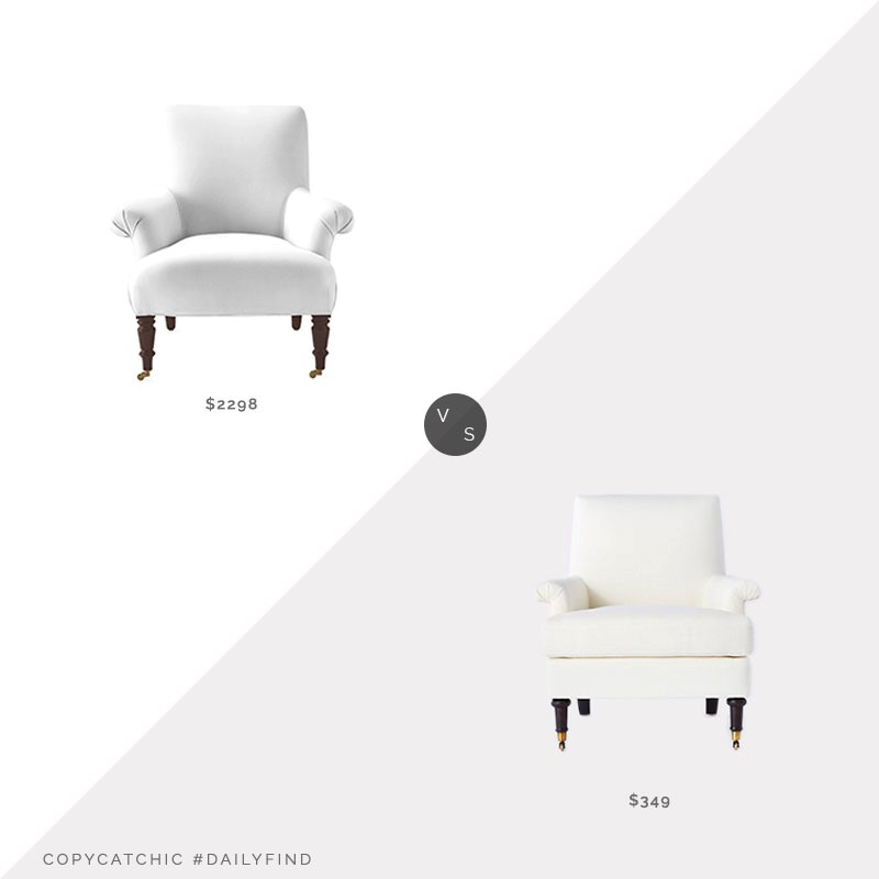 Daily Find: Serena & Lily Avignon Chair vs. Studio McGee Mercer Rolled Arm Chair, roll arm chair look for less, copycatchic luxe living for less, budget home decor and design, daily finds, home trends, sales, budget travel and room redos
