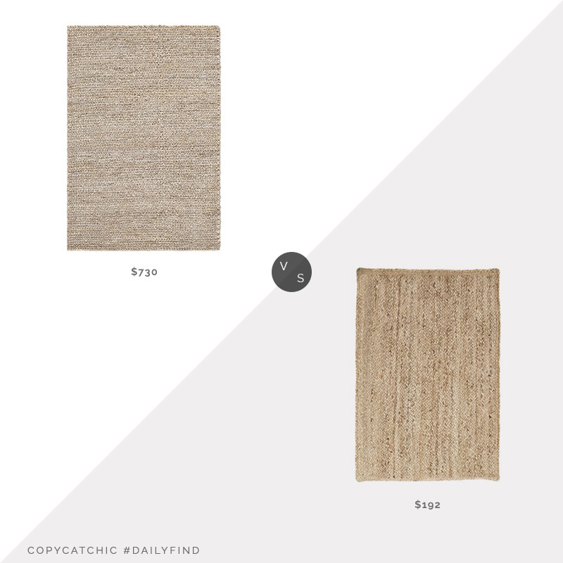 Daily Find: Pure Salt Henry Jute Rug vs. Overstock Miranda Haus Jute Rug, jute rug look for less, copycatchic luxe living for less, budget home decor and design, daily finds, home trends, sales, budget travel and room redos