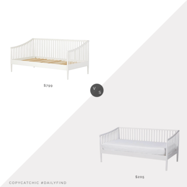 Daily Find: Crate & Kids Hampshire Spindle White Daybed vs. Baxton Studio Renata Spindle Daybed, spindle daybed look for less, copycatchic luxe living for less, budget home decor and design, daily finds, home trends, sales, budget travel and room redos