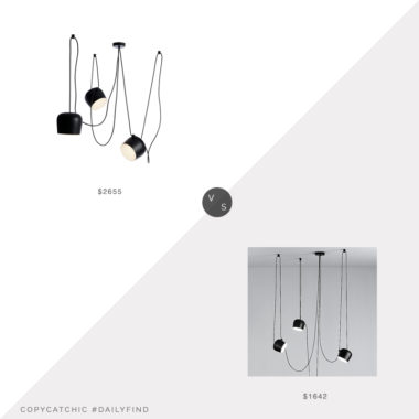 Daily Find: Design Within Reach Aim Pendant vs. TRNK Aim Multi Light Pendant, aim pendant look for less, copycatchic luxe living for less, budget home decor and design, daily finds, home trends, sales, budget travel and room redos