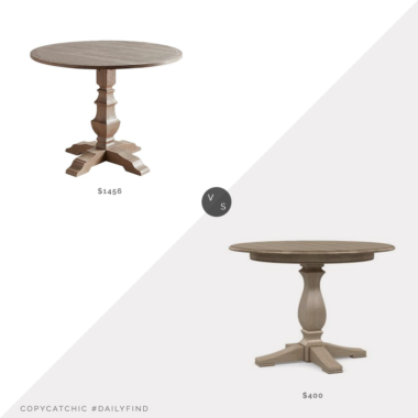 Daily Find: Ethan Allen Cameron Round Dining Table vs. Pier 1 Shadow Gray Drop Leaf Round Dining Table, round farmhouse dining table, copycatchic luxe living for less, budget home decor and design, daily finds, home trends, sales, budget travel and room redos