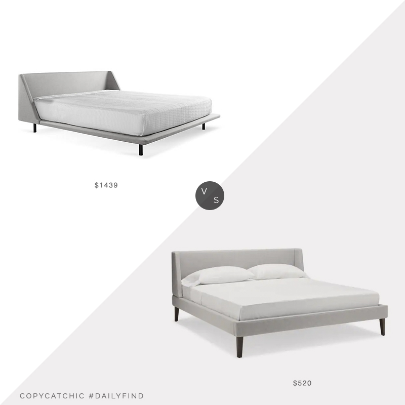 Daily Find: Lumens Blu Dot Nook Bed vs. Hayneedle Martin Bed, gray upholstered bed look for less, copycatchic luxe living for less, budget home decor and design, daily finds, home trends, sales, budget travel and room redos
