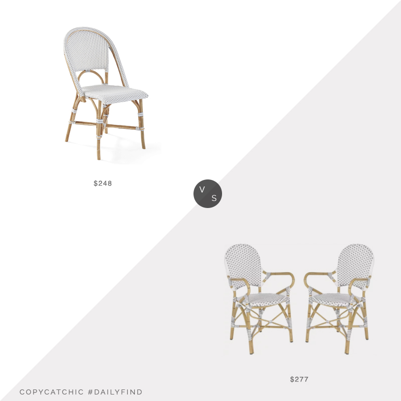 Daily Find: Serena and Lily Riviera Side Chair vs. Goedekers Hooper Stacking Armchair Set of 2, riviera side chair look for less, copycatchic luxe living for less, budget home decor and design, daily finds, home trends, sales, budget travel and room redos