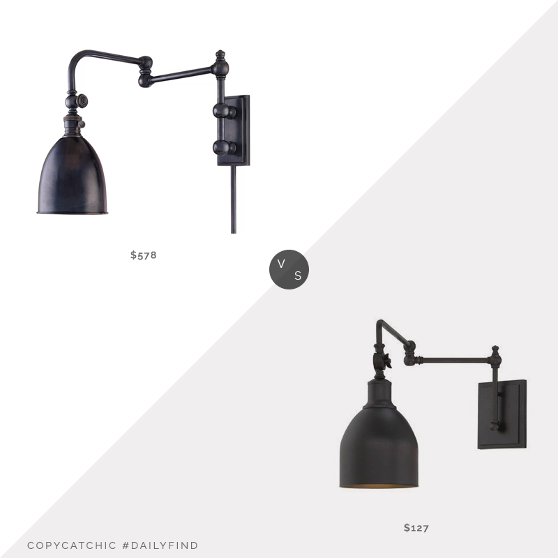 Daily Find: Wayfair Darby Home Co Bruna Swing Arm Lamp vs. Joss and Main Lyana 1-Light Swing Arm Lamp, swing arm lamp look for less, copycatchic luxe living for less, budget home decor and design, daily finds, home trends, sales, budget travel and room redos