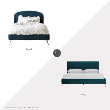 Daily Find: Anthropologie Leigh Bed vs. Castlery Adams Bed, teal bed look for less, copycatchic luxe living for less, budget home decor and design, daily finds, home trends, sales, budget travel and room redos