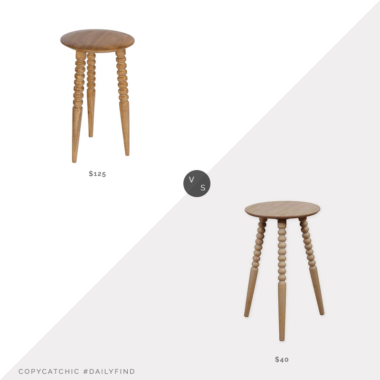 Daily Find: One Kings Lane Julie Spindle Side Table vs. Buy Buy Baby Bee & Willow Home Turned Leg Accent Table, spindle leg side table look for less, copycatchic luxe living for less, budget home decor and design, daily finds, home trends, sales, budget travel and room redos