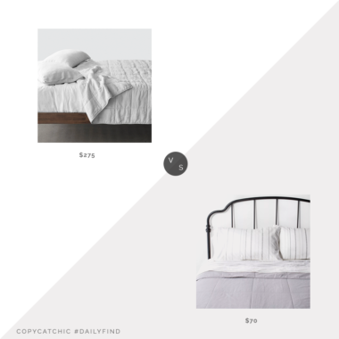 Daily Find: The Citizenry Stonewashed Linen Quilt vs. Target Hearth & Hand with Magnolia Solid Quilt, grid quilt look for less, copycatchic luxe living for less, budget home decor and design, daily finds, home trends, sales, budget travel and room redos