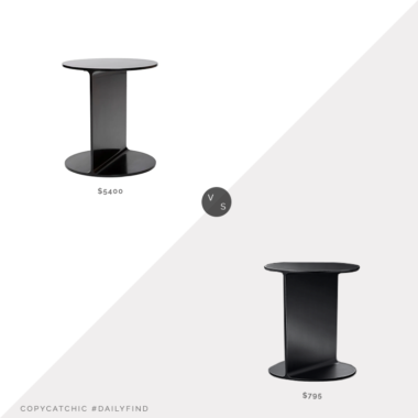 Daily Find: 1st Dibs Wyeth Original Round I Beam Table vs. Restoration Hardware I Beam Steel Round Side Table, i beam side table look for less, copycatchic luxe living for less, budget home decor and design, daily finds, home trends, sales, budget travel and room redos