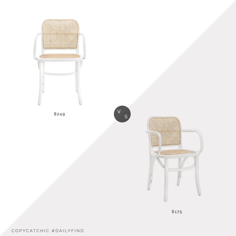 Daily Find: All Modern Atticus Wood Dining Chairvs. Safavieh Keiko Wood Dining Chair, white cane dining chair look for less, copycatchic luxe living for less, budget home decor and design, daily finds, home trends, sales, budget travel and room redos