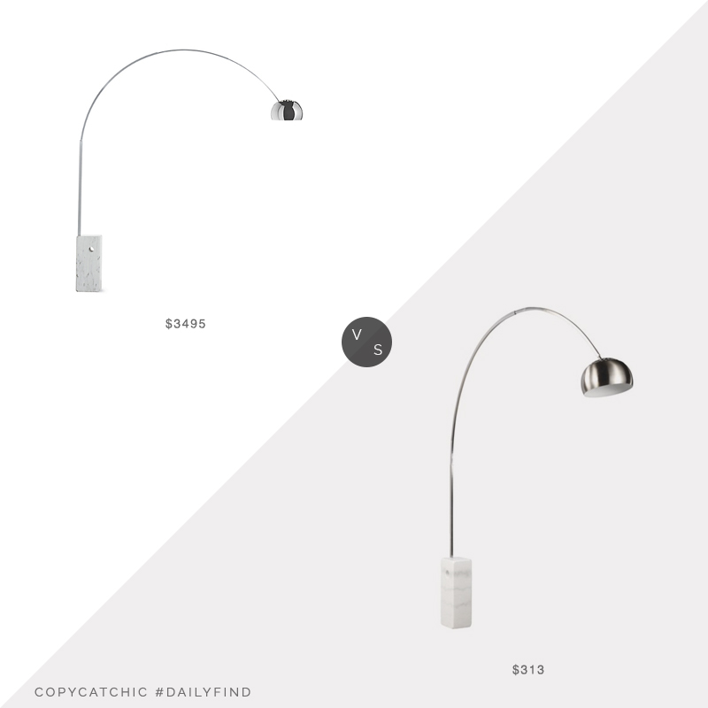 Daily Find: Design Within Reach Arco Floor Lamp vs. Walmart Fine Mod Imports Arch Lamp, arc lamp look for less, copycatchic luxe living for less, budget home decor and design, daily finds, home trends, sales, budget travel and room redos