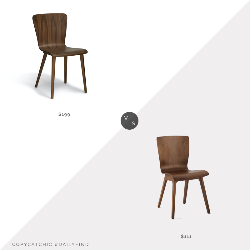 Daily Find: Article Sede Walnut Dining Chair vs. West Elm Crest Bentwood Chair, Walnut Vener, walnut dining chair look for less, copycatchic luxe living for less, budget home decor and design, daily finds, home trends, sales, budget travel and room redos