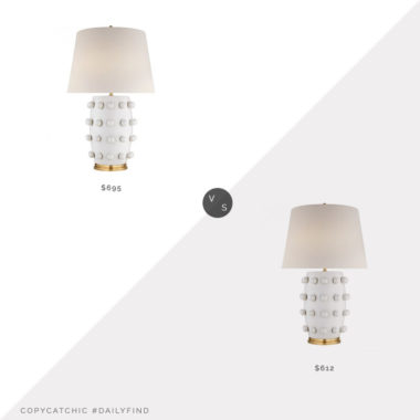 Daily Find: Burke Decor Kelly Wearstler Linden Table Lamp vs. Lighting Merchant Kelly Wearstler Linden Table Lamp, kelly wearstler lamp for less, copycatchic luxe living for less, budget home decor and design, daily finds, home trends, sales, budget travel and room redos