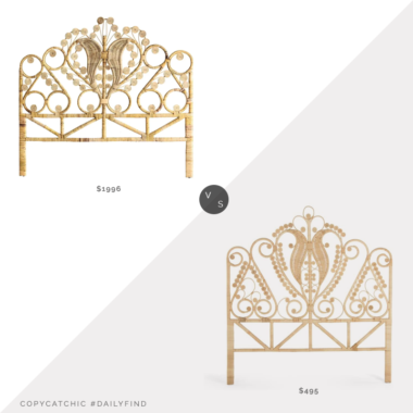 Daily Find: 1st Dibs Rattan and Wicker Queen Size Headboard vs. Amazon Kouboo Peacock Rattan Headboard, Queen Size, Natural Color, rattan headboard look for less, copycatchic luxe living for less, budget home decor and design, daily finds, home trends, sales, budget travel and room redos