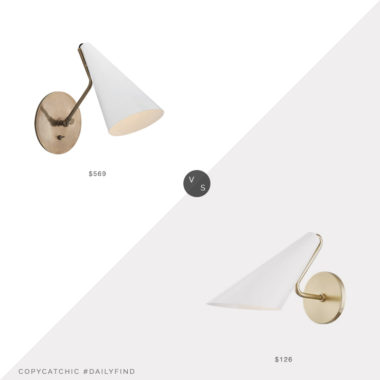 Daily Find: Aerin Clemente Wall Light vs. Mitzi Modern Wall Sconce, aerin sconce look for less, copycatchic luxe living for less, budget home decor and design, daily finds, home trends, sales, budget travel and room redos