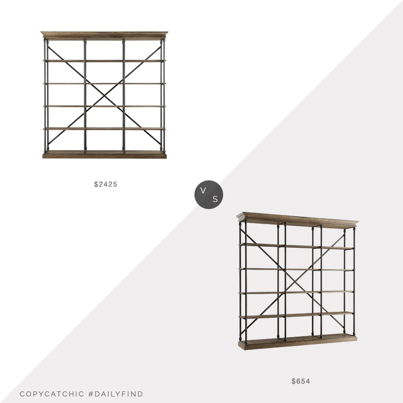Daily Find: Restoration Hardware Parisian Shelving vs. Walmart Weston Home Triple Bookshelf, RH bookshelf look for less, copycatchic luxe living for less, budget home decor and design, daily finds, home trends, sales, budget travel and room redos