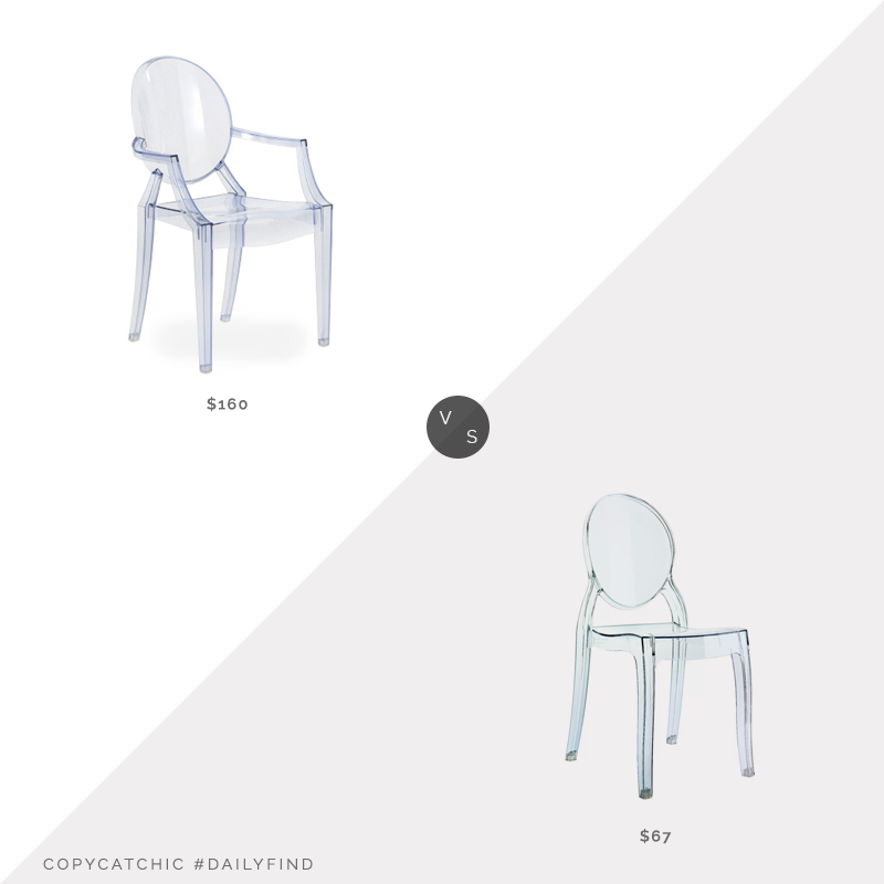 Daily Find: Hive Modern Lou Lou Ghost Child's Chair vs. All Modern Elbeni Kids Desk Chair, kids ghost chair look for less, copycatchic luxe living for less, budget home decor and design, daily finds, home trends, sales, budget travel and room redos